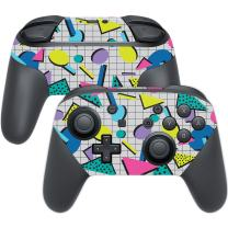 MightySkins Skin Compatible with Nintendo Switch Pro Controller - Awesome 80s   Protective, Durable, and Unique Vinyl Decal wrap Cover   Easy to Apply, Remove, and Change Styles   Made in The USA