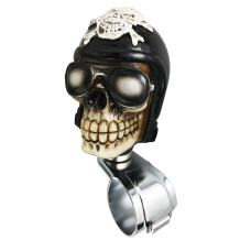 Arenbel Car Steering Wheel Spinner Knob Skull Suicide Grip Handle Control Booster Assist of Motorcyclist Style fit Most Vehicle, Black