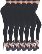 BEELU FASHION BOUTIQUE High Waisted Leggings for Women - Soft Workout Running Yoga Tummy Control Slim Pants - Reg & Plus Size