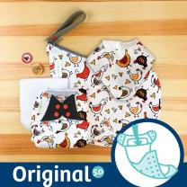 Doodles Collection: bumGenius Original One-Size Pocket-Style Cloth Diaper 5.0 (EGGcellent)