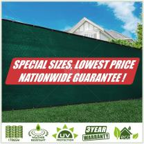 ColourTree Customized Size Fence Screen Privacy Screen Green 4' x 83' - Commercial Grade 170 GSM - Heavy Duty - 3 Years Warranty - Cable Zip Ties Included