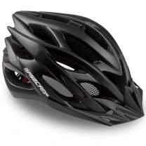Basecamp Specialized Bike Helmet, Bicycle Helmet with Helmet Accessories-Led Light/Removable Visor/Portable Bag Cycling Helmet Bc-ddtk Adjustable for Adult Men&Women Road&Mountain