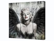 Yatsen Bridge Sexy Marilyn Monroe Printed Painting on Canvas Wall Art Black White Prints Picture for Living Room Home Decorations Framed(12''W x 18''H)