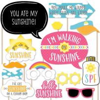 Big Dot of Happiness You are My Sunshine - Baby Shower or Birthday Party Photo Booth Props Kit - 20 Count