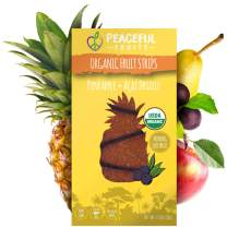 Peaceful Fruits 100% Fruit Strips (Pineapple, 5 count)