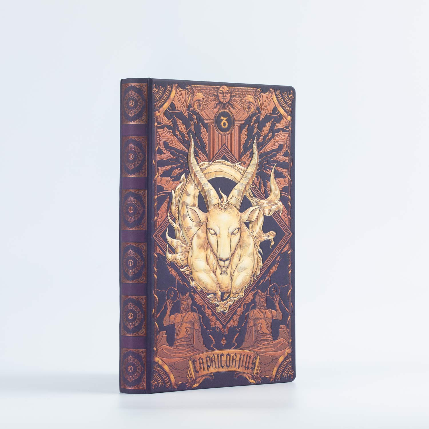 AstroReality Zodiac AR Notebook   Embossed Hardcover 12 Constellation Astrology Notebook   Horoscope Augmented Reality   8x5, 192 Pages Writing Pad Journal Book Travel Diary (Capricorn)
