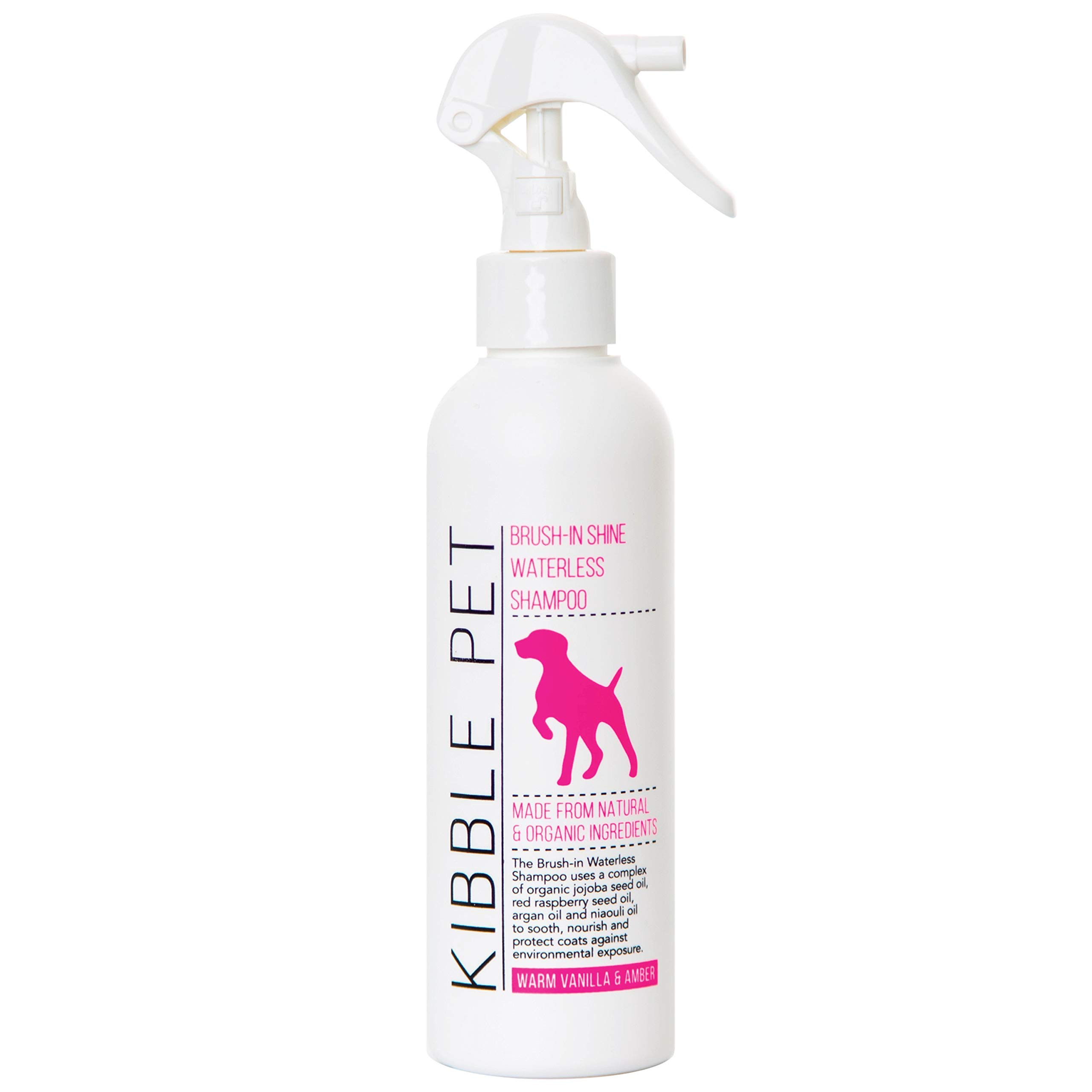 Kibble Pet Salon Quality Brush-in Shine Waterless Dog Shampoo Hypoallergenic | Made with Natural and Organic Ingredients | Made in The USA | 7.1oz