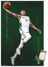 "Trends International Poster Mount NBA Milwaukee Bucks - Giannis Antetokounmpo, 22.375"" x 34"", Poster & Mount Bundle"