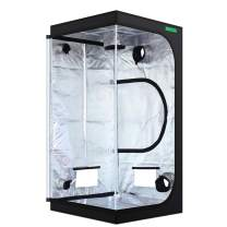 """VIPARSPECTRA 36""""x36""""x72"""" Reflective 600D Mylar Hydroponic Grow Tent for Indoor Plant Growing 3'x3'"""