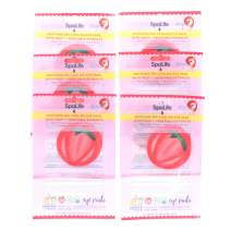 SpaLife Korean Soothing Spa Cooling Eye Pads - 48 Pads - With Fruit + Vegetable Extracts - Depuff Eyes + Reduce Dark Circles (Strawberry)