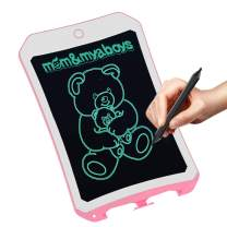 8.5 inch Writing &Drawing Board Doodle Board Toys for Kids, mom&myaboys Birthday Gift for 4-5 Years Old Kids & Adults LCD Writing Tablet with Stylus Smart Paper for Drawing Writer(Pink-Whie-9)