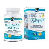 Nordic Naturals Ultimate Omega, Lemon Flavor - 1280 mg Omega-3-60 Soft Gels - High-Potency Omega-3 Fish Oil Supplement with EPA & DHA - Promotes Brain & Heart Health - Non-GMO - 30 Servings