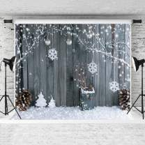 Kate 8x8ft Christmas Backgrounds Snowflake Backdrop Christmas Wood Wall Backdrop Children Christmas Photography Props