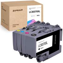 ZIPRINT Compatible Ink Cartridges Replacement for Brother LC-3037 XXL LC3037 LC 3037 Work with MFC-J5845DW MFC-J5945DW MFC-J6545DW MFC-J5945DW Inkjet Printer (Black,Cyan,Magenta,Yellow 4-Pack)