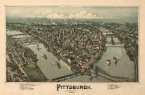 Pittsburgh, Pennsylvania - (1902) - Panoramic Map (12x18 Art Print, Wall Decor Travel Poster)