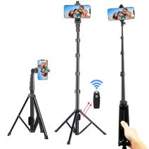 """Selfie Stick Tripod, 54"""" Extendable Tripod Stand Phone Tripod Camera Tripod Wireless Remote Shutter Compatible with iPhone 11 pro Xs Max Xr,Android,Vlogging/Streaming/Photography/Recording"""