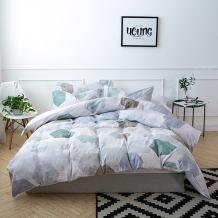 Merryfeel 100% Cotton Digital Printing Duvet Cover Set- Multi Colors - Full/Queen