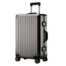 Aluminum Carry On Luggage, Hardside Suitcase With TSA (Dark grey, 20 inch)