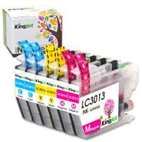 Kingjet 3013 Color Ink Replacements for Brother LC3013 Ink Cartridges Compatible with MFC-J487DW MFC-J491DW MFC-J497DW MFC-J690DW MFC-J895DW Inkjet Printers, 6 Pack(2Cyan 2Magenta 2Yellow)
