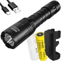 NITECORE i4000R 4400 Lumen USB-C Rechargeable Tactical Flashlight with 5000mAh battery with LumenTac Battery Case