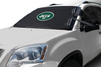 NFL Frost Guard Windshield Cover for Ice and Snow, New York Jets | Standard Size Car Windshield Cover, Black | Fits Most Compact Cars, Sedans, Small Trucks, SUVs – 60 x 40 Inches