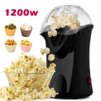 Hot Air Popcorn Maker,Popcorn Machine,Popcorn Popper 1200W,No Oil Needed, Including Measuring Cup and Removable Lid