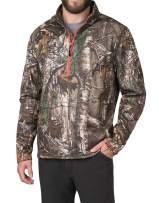 American Outdoorsman Camo Quarter Zip Fleece Pullover in Realtree Xtra Camo for Men