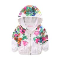 Mud Kingdom Little Girls Jackets Floral with Hood Thin