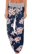 Womens Pajamas High Waisted Floral Print Pants Juniors Sleepwear Wide Leg Palazzo Lounge Pants