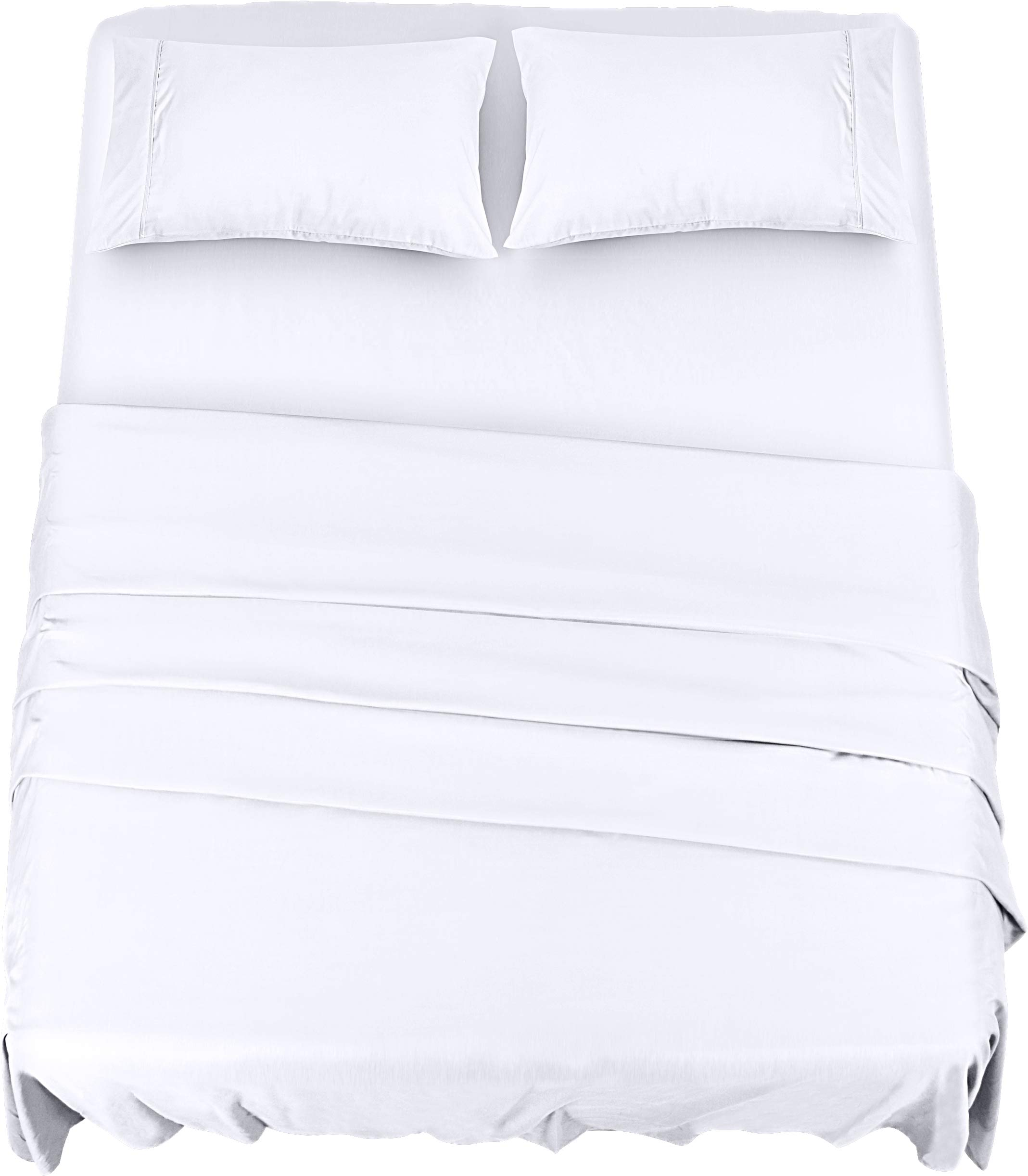 Utopia Bedding Bed Sheet Set - 4 Piece King Bedding - Soft Brushed Microfiber Fabric - Shrinkage & Fade Resistant - Easy Care (King, White)