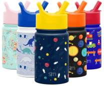 Simple Modern 10oz Summit Kids Water Bottle Thermos with Straw Lid - Dishwasher Safe Vacuum Insulated Double Wall Tumbler Travel Cup 18/8 Stainless Steel Astronauts
