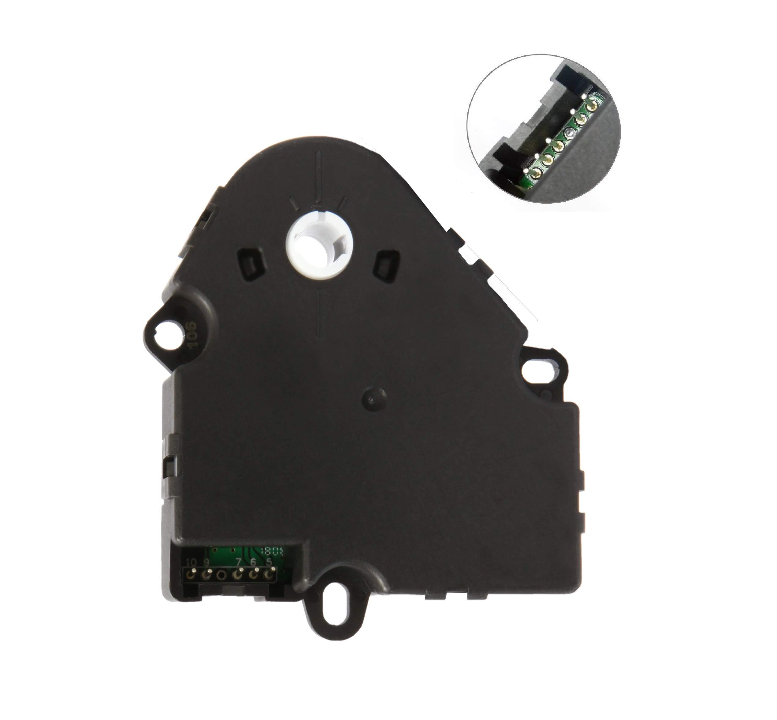 Blend Door Actuator for Chevy Silverado 1500 Silverado 2500 HD Tahoe, GMC Sierra 1500 99 00 01 02 03 04 05 06 07 08 09 10 11 12 13 Heat Blend Door Replaces 89018365, 52402588, 15-72971, 604-106