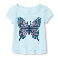 The Children's Place Baby Girls Short Sleeve Graphic Top