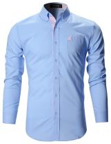 FLATSEVEN Mens Slim Fit Classic Dress Shirts