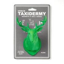 Urban Taxidermy Magnet and Wall Hook Deer (Green)