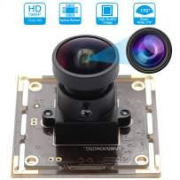 USB Camera 5MP HD 1944P Webcam 170 Degree Fisheye Web Camera with Aptina 1/2.5 MI5100 CMOS Sensor Camera Module Mini Industrial Web Cam,Plug&Play Support USB 2.0 OTG UVC Web Cams