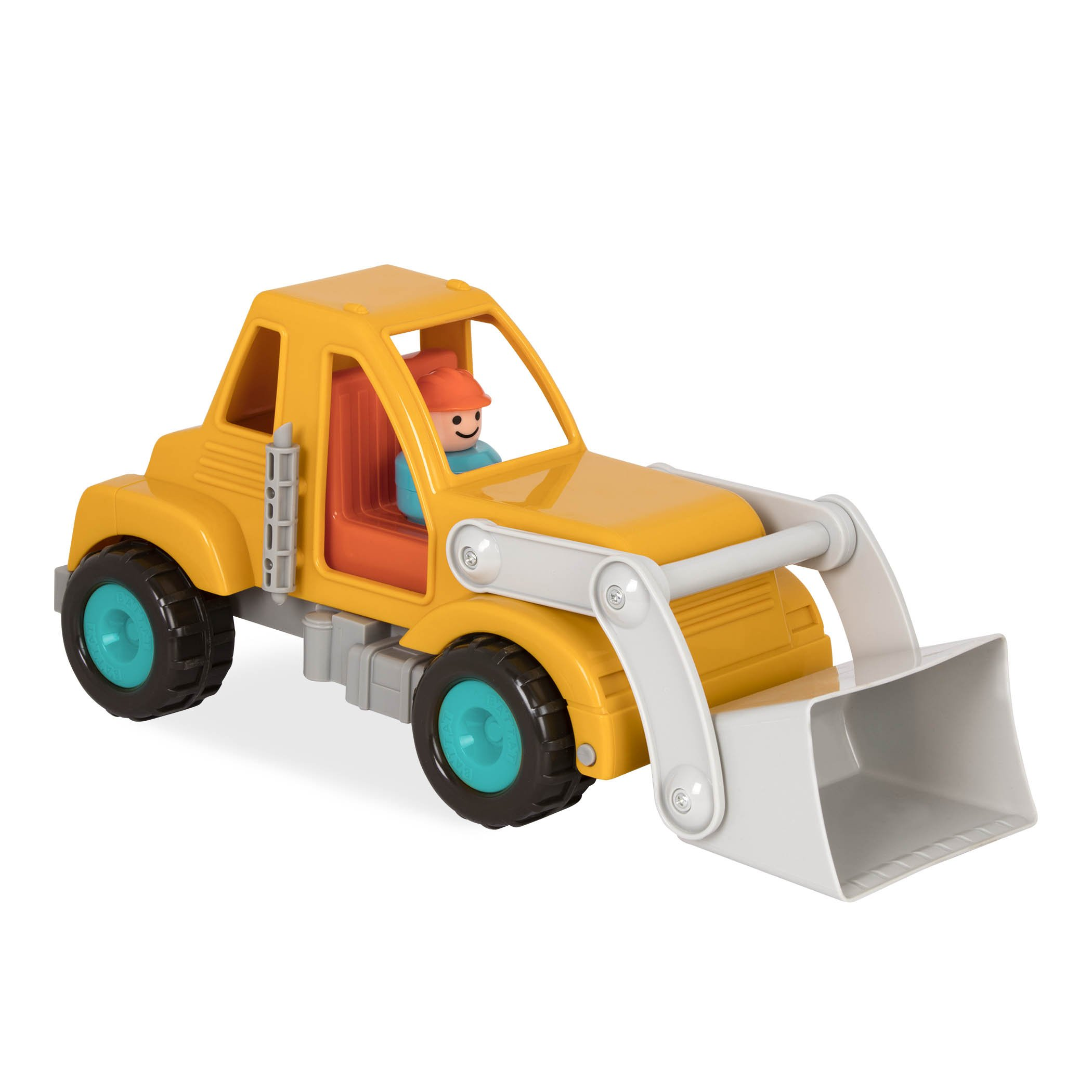 Battat Front End Loader Truck with Working Movable Parts and 1 Driver - Toy Trucks for Toddlers 18m+