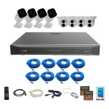 Revo America Ultra 16Ch. 4TB HDD 4K IP NVR Security System - Fixed Lens IP Cameras 8 x 4MP Audio Bullet Cameras & 4 x 4MP Turret Cameras - Remote Access via Smart Phone, Tablet, PC & MAC