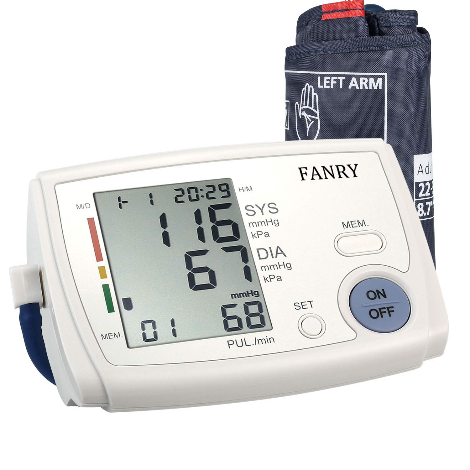 Blood Pressure Monitor Upper Arm,Automatic Accurate Digital Bp Machine for Home Use,Irregular Heartbeat and 90-Readings Memory, 4 AA Batteries Included,8.7''-12.6'' Adjustable Wide-Range Cuff