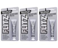 Flitz Multi-Purpose Polish and Cleaner Paste for Metal, Plastic, Fiberglass, Aluminum, Jewelry, Sterling Silver: Great for Headlight Restoration + Rust Remover, Made in the USA, 3 Pack
