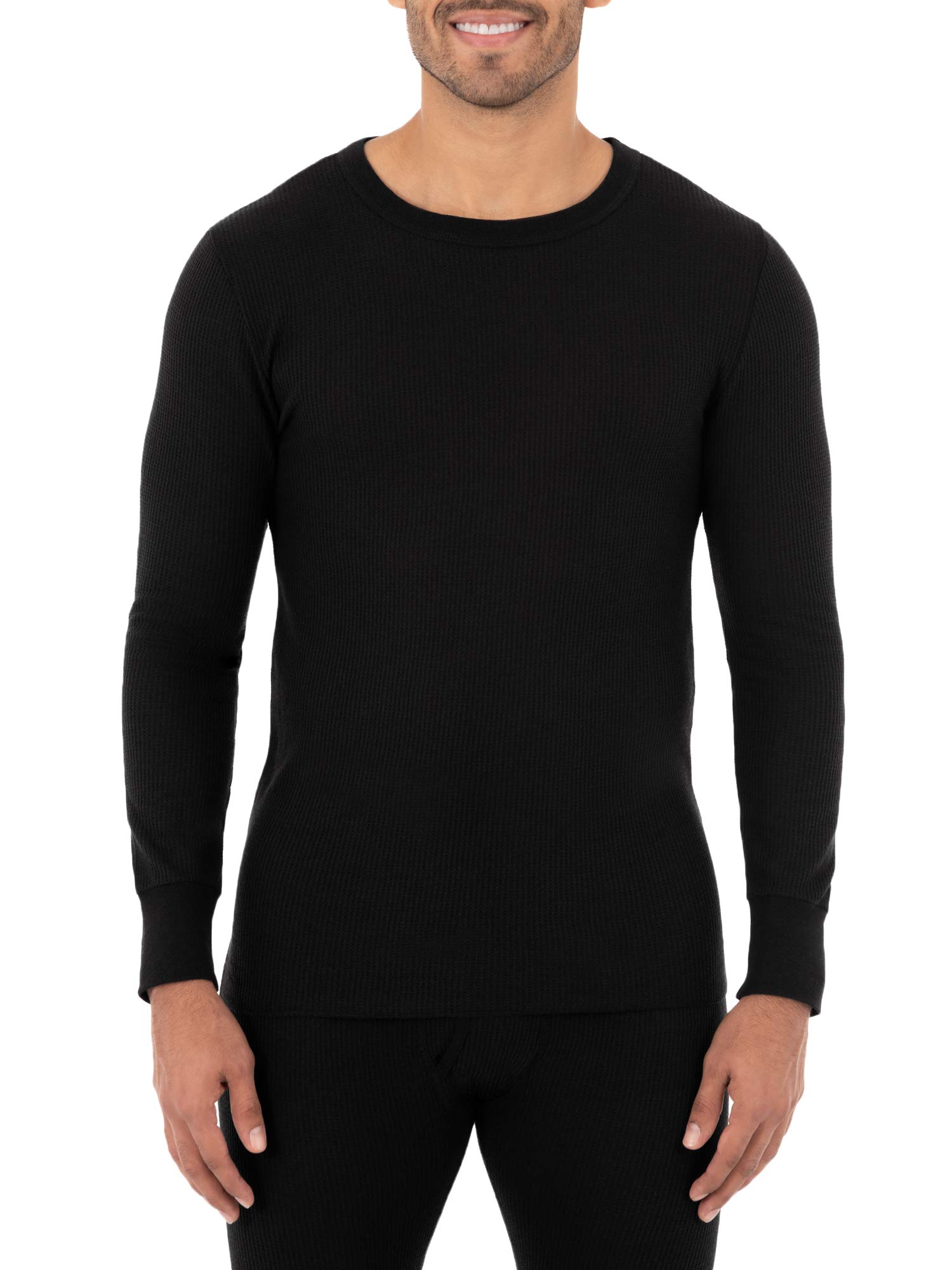 Fruit of the Loom Men's Classic Midweight Waffle Thermal Underwear Crew Top