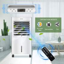 YOURLITE Portable Air Conditioner Fan, Evaporative Cooler W/Remote Control, 12 Timer 4 Modes & 3 Speed Low Noise with 8 L Water Tank 2 Ice Box for Indoor Home Office