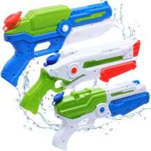 Yunaking Water Gun for Kids, 3 Pack Super Water Soaker Blaster Squirt Guns, 1250CC High Capacity, 35 Feet Long Shooting Range, Gifts for Kids & Adult Summer Swimming Pool Beach Water Fighting Party