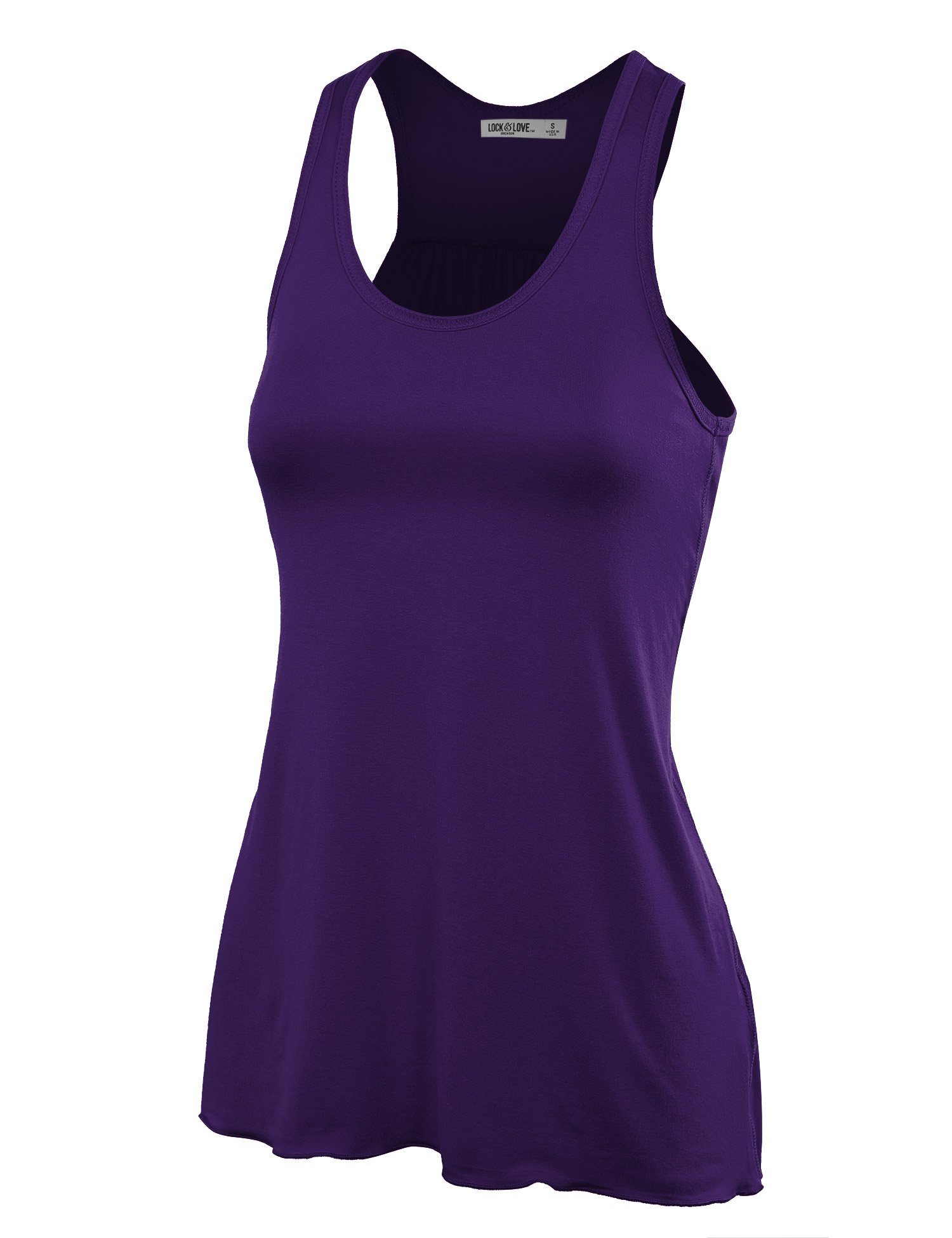 Lock and Love Women's Sleeveless All-Purpose Racerback Tank top-Made in U.S.A.