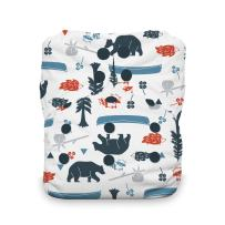 Thirsties Natural One Size All in One Cloth Diaper, Snap Closure, Adventure Trail
