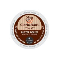Gloria Jean's Coffee, Butter Toffee, K-Cup Portion Pack for Keurig K-Cup Brewers (Pack of 24)