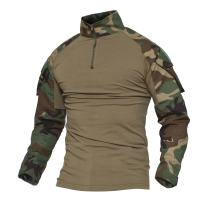 MAGCOMSEN Men's Tactical Military Shirts 1/4 Zip Long Sleeve Shirt with Pockets