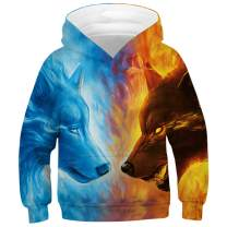 Always beautiful Boys' Novelty Hoodie 3D Print Realistic Animal Universe Abstract Hooded Sweatshirt Pullover