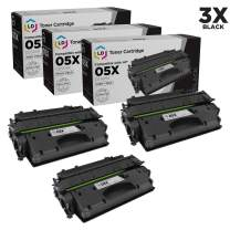 LD Compatible Toner Cartridge Replacement for HP 05X CE505X High Yield (Black, 3-Pack)