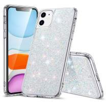 ESR Glitter Crystal Designed for iPhone 11 Case, Glamour Series Sparkling Crystal Cover [Flexible TPU Frame + Hard PC Back] [Supports Wireless Charging] for iPhone 11 6.1-Inch (2019), Silver